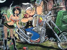 david worrell tattoos – Tattoo Tips Motorcycle Posters, Motorcycle Art, Bike Art, Classic Cartoon Characters, Classic Cartoons, Cartoon Art, Popeye E Olivia, David Mann Art, Cool Car Drawings