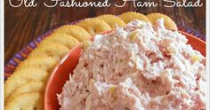Old fashioned ham salad is one of those recipes that might not be familiar to younger generations. Amish Recipes, Great Recipes, Cooking Recipes, Favorite Recipes, Cooking Games, Cooking Classes, Ham Salad Recipes, Appetizer Recipes, Appetizers