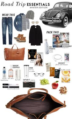 road trip essentials, what to wear and pack