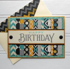 Masculine Birthday Card with Matching Embellished Envelope - Big Birthday