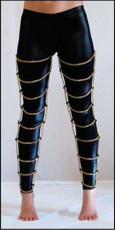 Black Milk's 'Gold Cages' Legwear Brings Cage Apparel to Mainstream #Jewelry trendhunter.com