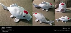 Koi fish plush pattern! Gorgeos/adorable/wonderful!