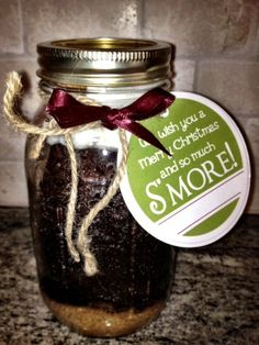 S'mores Cake in a Jar. I can't wait to try it.