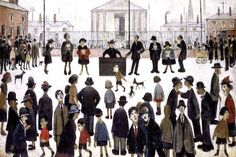 size: Stretched Canvas Print: The Prayer Meeting by Laurence Stephen Lowry : Using advanced technology, we print the image directly onto canvas, stretch it onto support bars, and finish it with hand-painted edges and a protective coating. Prayer Meeting, Tate Gallery, English Artists, Painting Edges, Coming Home, Stretched Canvas Prints, Find Art, Framed Artwork, Giclee Print