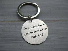 The Best Dads Sterling Silver Personalized Keychain by ESDesigns14