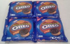 Peanut Butter Oreo Reeses Limited Edition 12.2 oz Cookie - 4 Pak Exp Date Jan 15 #NabiscoReesesTM