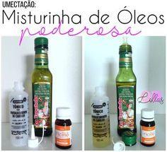 Umectação cabelos cacheados: óleo de rícino + azeite de oliva.   Procurando um tratamento para cabelos cacheados  ou para cabelo muito ress...