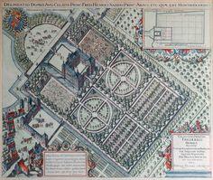 Huis Honselaarsdijk, Arent van 's-Gravesande, Pieter Post, Bartholomeus van Bassen en Jacob van Campen, Honselersdijk, 1621-1647