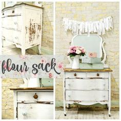 Sweet Pickins Milk Paint in Flour Sack is our brightest white. This color is a true white with no yellow, pink or peachy undertones. Sweet Pickins Milk Paint is a t… Country Furniture, Repurposed Furniture, Shabby Chic Furniture, Painted Furniture, Furniture Ideas, Refurbished Furniture, Nice Furniture, Vintage Furniture, Resale Furniture