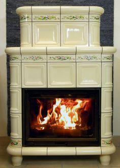 tradycyjny wolnostojący piec kaflowy z ręcznie malowanym wzorem kwiatowym t40 Piece, Hearths, Stove Fireplace, Minden, Stoves, Wood Burning, Fireplaces, Kitchen Appliances, Architecture