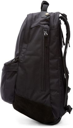 695d21bf84 Visvim - Black Ballistic 22L Backpack Canvas Leather