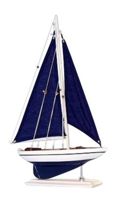 """Handcrafted Nautical Decor Pacific Sailer Sails Boat, 17"""", Blue Handcrafted Nautical Decor http://www.amazon.com/dp/B00GA1X2TY/ref=cm_sw_r_pi_dp_v9mhvb0KG7221"""