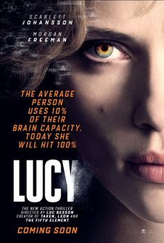 UK posters for Luc Besson's Lucy