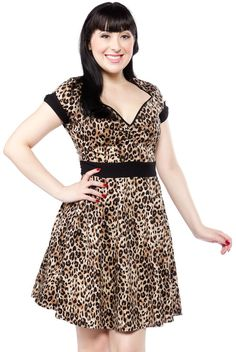 SOURPUSS LEOPARD DOLLFACE DRESS