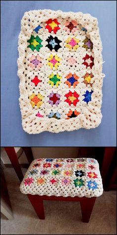 30 Fascinating Crochet Pattern Ideas To Try 2019 best crochet stool cover The post 30 Fascinating Crochet Pattern Ideas To Try 2019 appeared first on Knit Diy. Unique Crochet, Cute Crochet, Crochet Designs, Crochet Patterns, Crochet Furniture, Crochet Beard, Crochet Towel, Stool Covers, Crochet Home Decor