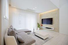 White Interior, Home Interior Design, Modern Kids Bedroom, Living Room Designs, Tv Wall Design, Dream Decor, Interior Design, House Interior, Cool Rooms