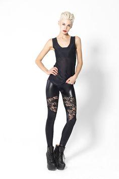 04ab7c71a7e Spartans Lace Leggings- XS Shiny Leggings