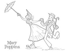 Mary Poppins coloring page by *BetterthanBunnies
