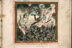 fallen angels     Georges Chastellain, Miroir de Mort, France 1470.     Carpentras, Bibliothèque municipale, ms. 410, fol. 9bis