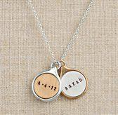 Personalized Teardrop Charm Necklace
