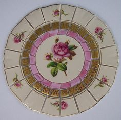"Vintage China Mosaic Tile Set 6 1/2"" Shabby Pink Rose Gold Tesserae Stained Glass Syracuse China Mosaic Art Supplies"
