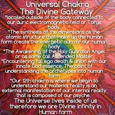 Universal Chakra, the universe lives inside of us