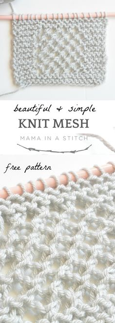 Super easy and free knitting pattern that creates a gorgeous knit mesh stitch! via @MamaInAStitch