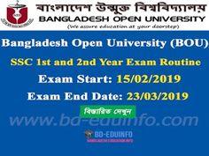 Bangladesh Open University (BOU) SSC and Year Examination Routine 2019 Job Circular, 3 Years, Routine, University, Education, Adobe Photoshop, Portal, 3 Year Olds, Onderwijs