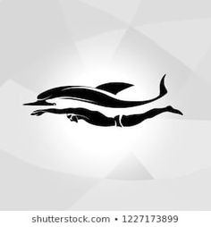 Professional swimmer dolphin vector logo ocean sea wave label Element Tattoo, I Love Swimming, Swimming Diving, Swimming Tattoo, Swim Tattoo, Scuba Tattoo, Swim Logo, Transférer Des Photos, Bigfoot Photos