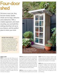 Shed Dilemma. Recycled DoorRepurposed DoorsOutdoor ...