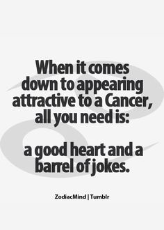 Truth. I love a man that can make me laugh. One that stimulates my brain is nice too =P