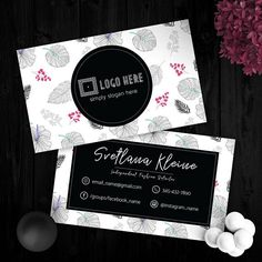 Tropical Black Lularoe Business Cards Free Personalize For Fashion