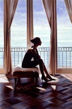 Beautiful oil paintings of women by Rob Hefferan