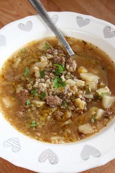 sio-smutki! Monika od kuchni: Pikantna zupa z mieloną wołowiną i kaszą jaglaną