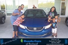 https://flic.kr/p/MWFuD6   #HappyAnniversary to Shannon and your 2014 #Honda #Civic Sedan from Everyone at Honda Cars of Rockwall!   www.deliverymaxx.com/DealerReviews.aspx?DealerCode=VSDF