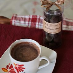 Tsokolateng tablea (Filipino hot chocolate drink) - Tablea refers to blocks of cacao which, in Filipino cuisine, are heated with milk to make a hot chocolate drink. My grandparents served it on Christmas Eve. Filipino Dishes, Filipino Recipes, Filipino Food, Filipino Desserts, Pinoy Food, Cocoa Recipes, Hot Chocolate Recipes, Christmas Food Gifts, Christmas Desserts