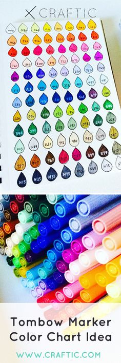 An idea how to show off your Tombow dual brush pen makers with this handy color chart!