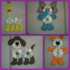 Brilliant Recycle Old CDs Craft Ideas Brilliant Recycle alte CDs Bastelideen Crafts With Cds, Recycled Cd Crafts, Old Cd Crafts, Recycled Art Projects, Projects For Kids, Handmade Crafts, Arts And Crafts, Recycled Glass, Recycling Projects