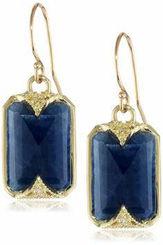 Amazon.com: Mizuki Rectangular Blue Sapphire Earrings: Jewelry