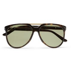 5934e9334599 Gucci Metal-Trimmed Acetate Aviator Sunglasses