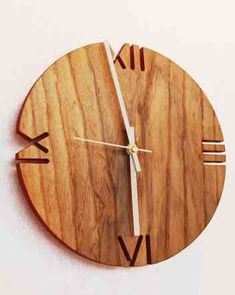 Clock with cutout