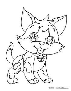 Beautiful Happy kitten coloring page for kids of all ages. Add some colors to create your piece of art.