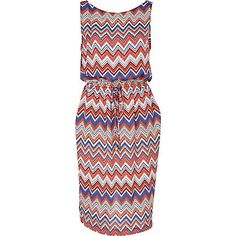 Jubilee - RED ZIG ZAG PRINT DRESS from River Island