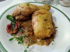 Pollo agrio en salsa de mostaza y limon - Pollo all'agro - Sour cream chicken recipe. italian food, italian recipe, cocina italiana, comida italiana