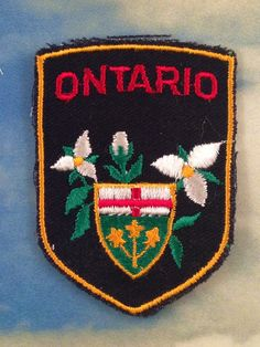 Ontario Vintage Travel Patch by Canadiana by HeydayRetroMart, $7.50