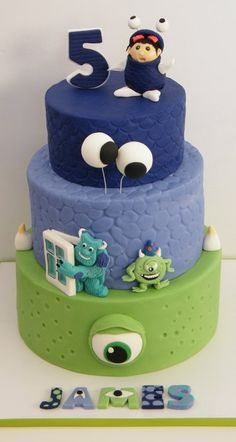 Monster Inc Cake (made with permission from original designer!) - by NPink309 @ CakesDecor.com - cake decorating website
