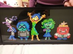 Inside Out characters perler beads by canucksbro