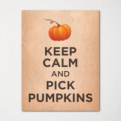 Keep Calm and Pick Pumpkins  8x10 Fine Art Print  by LetsKeepCalm, $15.00