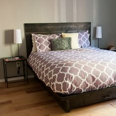 DIY Headboard for Under $50!  Love love love the dog trundle bed!