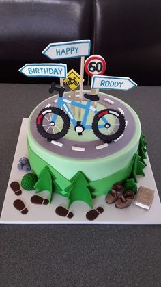 29 Ideas mountain bike cake bicycles for 2019 Bicycle Cake, Bike Cakes, Dad Cake, 50th Cake, Cupcakes, Cupcake Cakes, Birthday Cakes For Men, Mountain Bike Cake, Super Torte